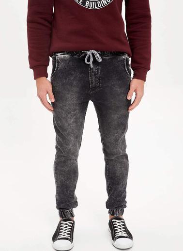 DeFacto Slim Fit Jean Jogger Pantolon Siyah